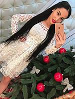 Женское красивое гипюровое платье (2 цвета)