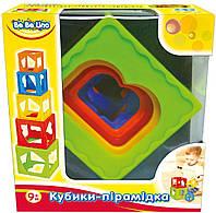 Кубики-пирамидка, 57028, 9М+;укр.упаковка