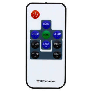 Контролер 12V RGB для світлодіодної стрічки 72Вт 6А-радіо-10 кнопок, фото 2