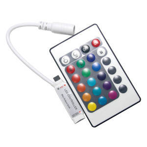 Контроллер 12V RGB для светодиодной ленты 72Вт 6А-инфракрасный-24-MINI кнопки
