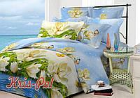 Комплект постельного белья полиэстер 3D ТМ KRIS-POL (Украина) семейный 6285722