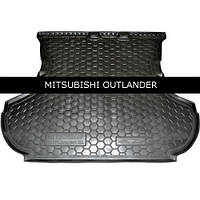 Коврик в багажник Avto Gumm для Mitsubishi Outlander XL 2007-2012 (без сабвуфера)