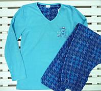 Женская теплая флисовая пижама размер S