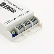 Контролер 12V RGB для світлодіодної стрічки 108Вт 9A-інфрачервоний-24 music, фото 2