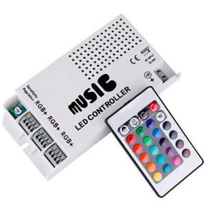 Контролер 12V RGB для світлодіодної стрічки 108Вт 9A-інфрачервоний-24 music
