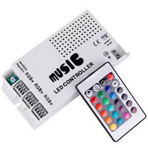 Контроллер 12V RGB для светодиодной ленты 108Вт 9A-инфракрасный-24 music