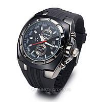 Мужские стильные кварцевые часы V 6 Super speed. Силиконовый браслет