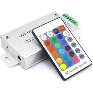 Контроллер 12V RGB для светодиодной ленты 288Вт 24А-радио-24 кнопки