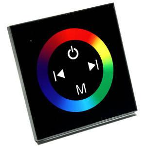Контроллер 12 V RGB для светодиодной ленты 144Вт 12A-Touch black встраиваемый