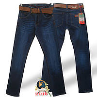 Джинсы мужские классические тёмно-синего цвета бренд Armani Италия.