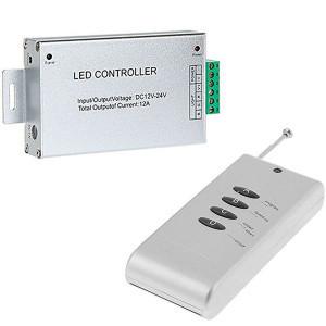 Контроллер 12V RGB для светодиодной ленты 144Вт 12А-радио-4 кнопки