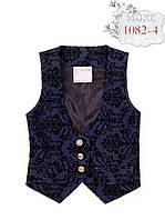 Жилет текстиль, джинс-стрейч, рисунок флок, р. 134