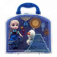 Кукла мини аниматор в сундучке Эльза Холодное Сердце Disney Animators Collection Mini Doll 2016