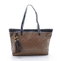 Женская кожаная сумка на плечо коричневая