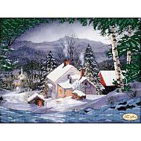 Схема для вышивания бисером Tela Artis Рождественский вечер ТА-073