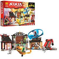 """10527  Конструктор Bela аналог LEGO Ninjago 70590 """"Аэроджитцу: Поле битвы"""" 686 д."""