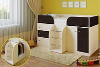 """Подростковая кровать-чердак+шкаф+комод """"Астра"""""""