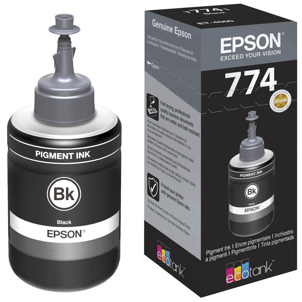 Контейнер с чернилами EPSON 774 (T7741) (C13T77414A) черные, пигментные, для фабрик печати EPSON
