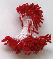 Тычинки для цветов красные хрустальное покрытие