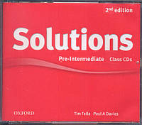 Набор дисков с аудио-материалами Solutions Pre-Intermediate 2nd Edition: Class Audio CD(3)