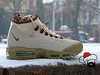 """Кроссовки мужские высокие зимние Nike Air max Sneakerboots 95 """"Dark Loden"""" (реплика)"""