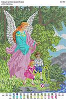 БА3-056 Ангел-Хранитель. Вишиванка. Схема на ткани для вышивания бисером