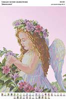 БА3-69 Девочка-ангел. Вишиванка. Схема на ткани для вышивания бисером