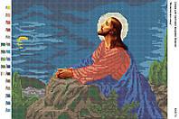 БА3-73 Молитва про чашу. Вишиванка. Схема на ткани для вышивания бисером