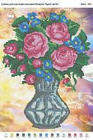 БА3-031 Букет цветов. Вишиванка. Схема на ткани для вышивания бисером