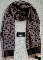 Стильный шарф/палантин Louis Vuitton, Луи Витон (коричневый)