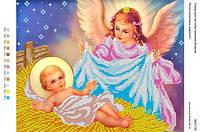 БА3-138 Ангел хранитель младенцев. Вишиванка. Схема на ткани для вышивания бисером