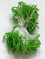 Тычинки для цветов зеленые хрустальное покрытие