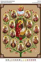 БА3-192 Древо Пресвятой Богородицы. Вишиванка. Схема на ткани для вышивания бисером