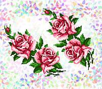 K-202 Розы. Confetti. Водорастворимый флизелин с рисунком