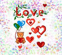 K-203 Признание в любви. Confetti. Водорастворимый флизелин с рисунком