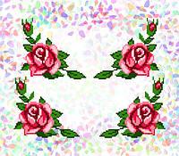 K-205 Розы. Confetti. Водорастворимый флизелин с рисунком