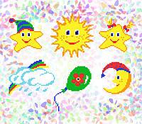 K-206 Детские сны. Confetti. Водорастворимый флизелин с рисунком