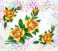 K-208 Желтые розы. Confetti. Водорастворимый флизелин с рисунком