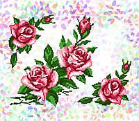 K-211 Розы. Confetti. Водорастворимый флизелин с рисунком