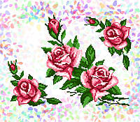 K-213  Розы. Confetti. Водорастворимый флизелин с рисунком