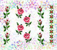 K-215 Маленькие розы. Confetti. Водорастворимый флизелин с рисунком