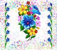 K-223 Букет полевых цветов. Confetti. Водорастворимый флизелин с рисунком