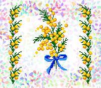 K-224 Мимоза. Confetti. Водорастворимый флизелин с рисунком