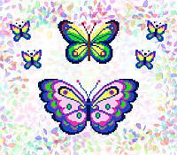 K-226 Бабочки. Confetti. Водорастворимый флизелин с рисунком
