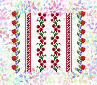 K-241 Цветочные узоры. Confetti. Водорастворимый флизелин с рисунком