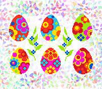 K-247 Писанки с цветами. Confetti. Водорастворимый флизелин с рисунком