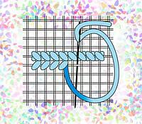 K-259 Сетка Аида №14. Confetti. Водорастворимый флизелин с рисунком