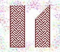 K-263 Красный орнамент. Confetti. Водорастворимый флизелин с рисунком