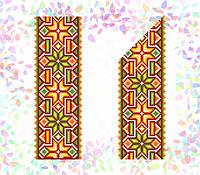 K-267 Гуцульский орнамент. Confetti. Водорастворимый флизелин с рисунком