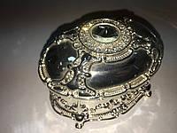 Шкатулка мельхиор для мелочей овальная, фото 1